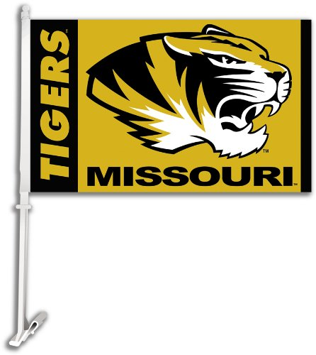 NCAA Missouri Tigers Car Flag