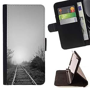For Samsung Galaxy S6 EDGE (NOT S6),S-type Naturaleza Hermosa Forrest Verde 119- Dibujo PU billetera de cuero Funda Case Caso de la piel de la bolsa protectora