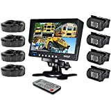 """Pyle Mobile Video Surveillance System - Weatherproof Rearview, Backup and Dash Cam with HD 4 IR LED Night Vision Cameras and 7"""" Monitor for Trucks, Trailers, Vans, Buses and Vehicles - PLCMTR74"""