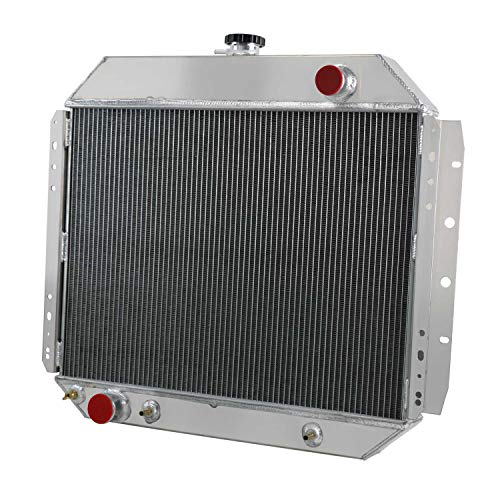 CoolingCare 4 Row Core All Aluminum Radiator for Ford F100 F150 F250 F350 1966-79 &Bronco V8 78-79