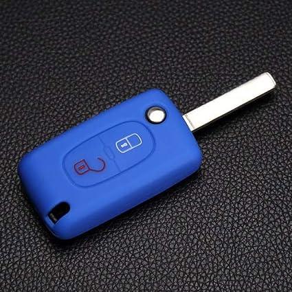 Amazon.com: Carcasa de silicona para llaves de Peugeot RCZ ...