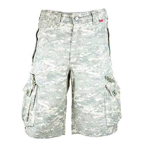 Molecule Men's Beach Bumpers Cargo Shorts - 100% Cotton, Tactical Pockets | USA 33