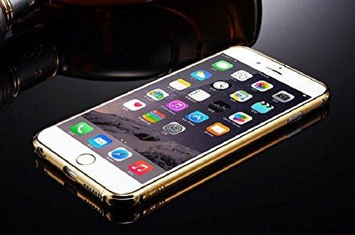 Ukamshop für iPhone 6 Luxus Aluminium Metall Spiegel Tasche case cover Gold