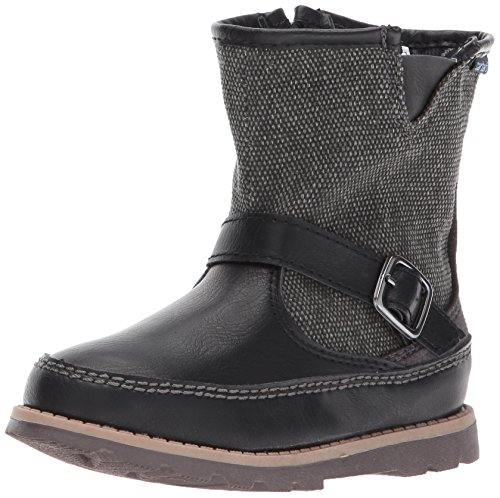 carter's Boys' Galaway Fashion Boot, Black/Grey, 7 M US Toddler