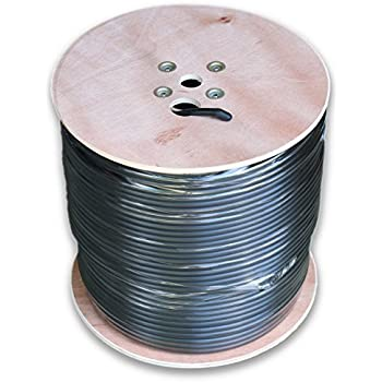 RG11 CABLE 1000 FT roll of Black Tri-Shield Underground Coaxial Drop DIRECT BURIAL Flooded