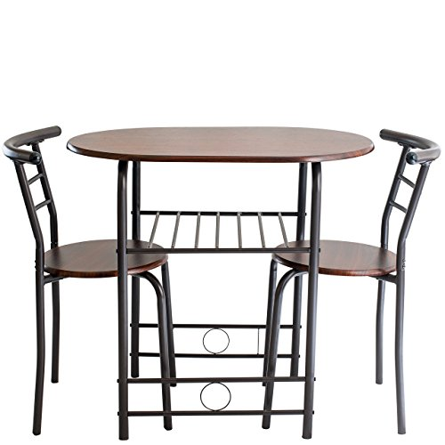 Handi-Craft 725791821077 3 Piece Compact Dining Set with Table and Matching Chairs, Dark - 2 Piece Chair Set