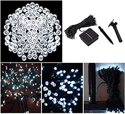 1 Pcs Optimum Popular 200x LED Solar Power Nightlight Waterproof Xmas Props Home Decor Colors White