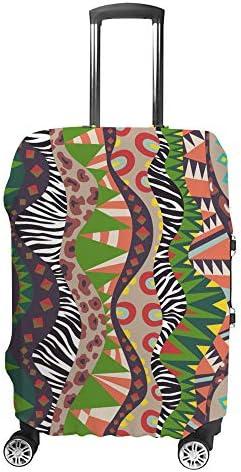 スーツケースカバー 民族風 アフリカの部族文化 動物の皮 伸縮素材 キャリーバッグ お荷物カバ 保護 傷や汚れから守る ジッパー 水洗える 旅行 出張 S/M/L/XLサイズ