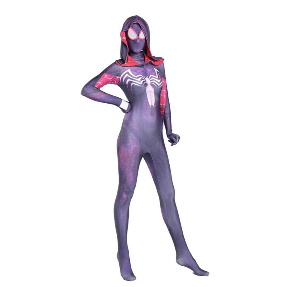 Disfraz De Gwen Spiderman Vestido De Cosplay Vestido De Medias Siamesas Anime Movie Props,Child-M