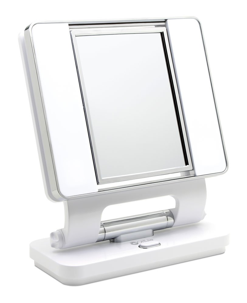 Ott-lite Natural Daylight Makeup Mirror, White/Chrome (26 Watt)