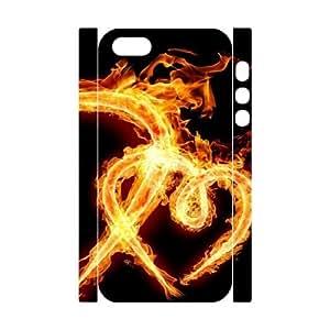 Iphone 5,5S Heart 3D Art Print Design Phone Back Case Custom Hard Shell Protection TY094921