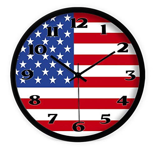 BJXM Creative China, The United States, Korea and The United Kingdom Flag Wall Clock Mute Wall Clock Quartz Clock Clock Wall Clock 12 / -