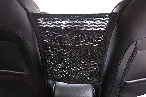 Car Armrests Seats Purse Storage Organizer, Children Kids Disturb Stopper,Universal Car Truck Storage Luggage Hooks Hanging Organizer Holder Seat Bag Mesh Net,Storage Add On (Double Layer)