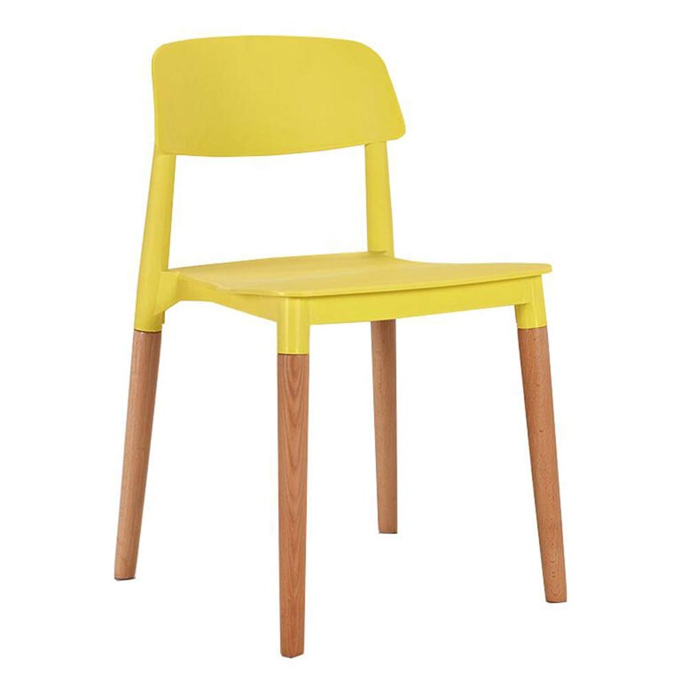 Versatility Bedroom Lounge Chairs Amazon.com - Dall Dining Chair, Modern Home Solid Wood Legs Plastic Seat Living  Room Bedroom Lounge Chairs (Color : Yellow) - Chairs