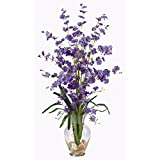 SKB Family Dancing Lady Liquid Illusion Silk Flower Arrangement Purple Home Wedding Party Deco