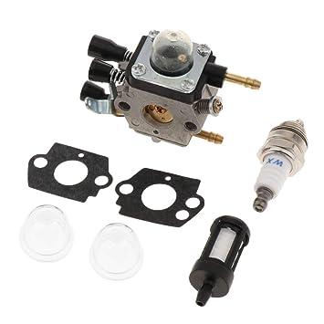 PETSOLA 1 Juego Carburador de Soplador para STIHL Soplador BG45 BG46 BG55 BG65 BG85 SH55 SH85