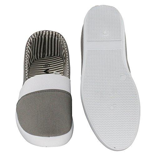 brandsseller - Mocasines de Material Sintético para mujer gris
