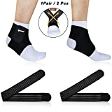 Ipow Nonslip Breathable brace With 2 Compression Cross Straps, FDA Approved, Ankle & Arch Support To Relieve Foot Pain,Best Ankle Brace Support Protector Stabilizers Wraps for Everyday Wear(1 Pair)