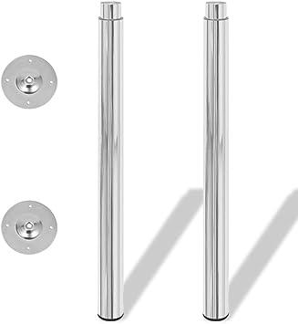 vidaXL 2 Patas Telescópicas para Mesa regulables en altura 710mm ...