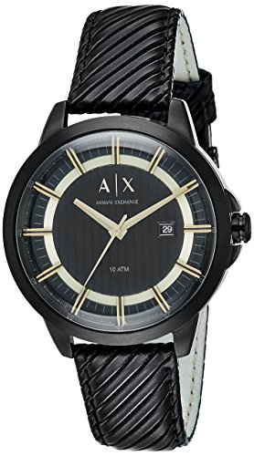 Armani Exchange Men's AX2266 Black  Leather Watch