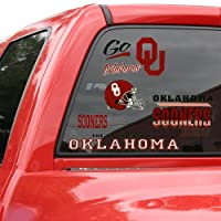 Oklahoma Sooners Official NCAA 11 inch x 17 inch Car Window Cling Decal by Wincraft