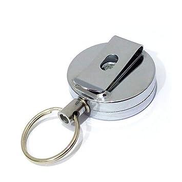 Myfei llavero retráctil tirar cadena, tarjeta de clip de ...