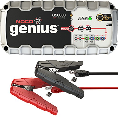 NOCO Genius G26000 12V/24V 26A Pro Series UltraSafe Smart Battery Charger (Skyhawk Series)