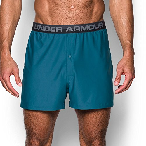 Under Armour Men's Original Series Boxer Shorts, Bayou Blue/Steel, Large (Under Short Armour Performance Mens)