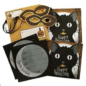 Martha Stewart Crafts Halloween Invitation Kit, Animal Masquerade