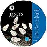GE StayBright 150-Count 37.25-ft Constant Warm White C5 LED Plug-in Indoor/Outdoor Christmas String Lights