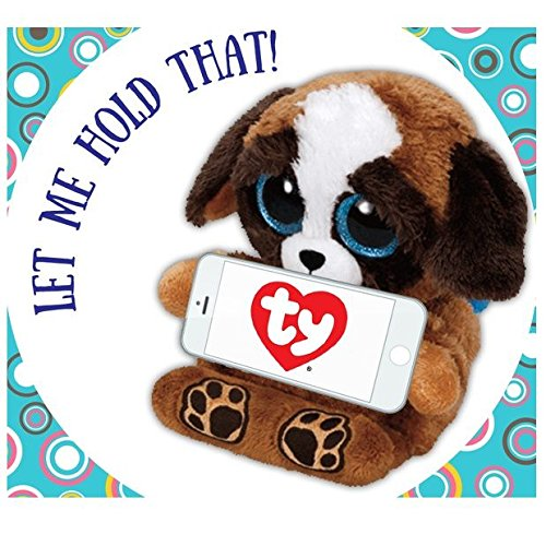 Amazoncom Pups Puppy Phone Holder Stuffed Animal By Ty Ph004