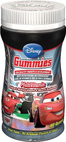Disney Multivitamin Gummies, Pixar Cars, 60 Gummies (Pack of 3)