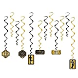 Beistle Great 20s Whirls   Premium Hanging Party Decorations (3-pack)