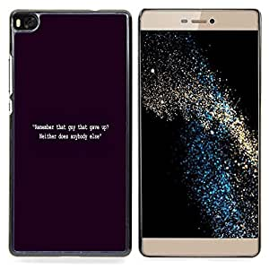 """For Huawei Ascend P8 (Not for P8 Lite) Case , Negro Cita Vignette Inspiring Motivar"""" - Diseño Patrón Teléfono Caso Cubierta Case Bumper Duro Protección Case Cover Funda"""