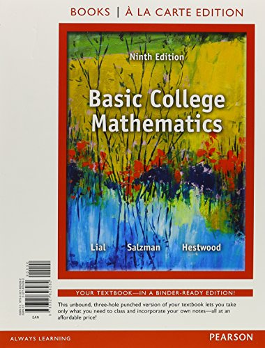 Basic College Mathematics, Books a la Carte Edition (9th Edition)