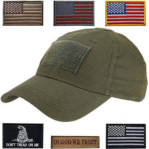 Ball Outdoor Cap - Lightbird Tactical Hat with 6 Pieces Tactical Military Patches, Adjustable Operator Hat, Durable Tactical OCP Flag Ball Cap Hat for Men Work, Gym, Hiking and More