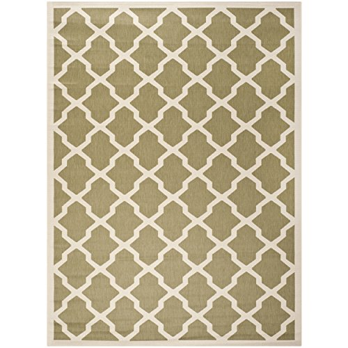 Safavieh Courtyard Collection CY6903-244 Green and Beige Indoor/ Outdoor Area Rug (8' x 11') - Green Gold Area Rug