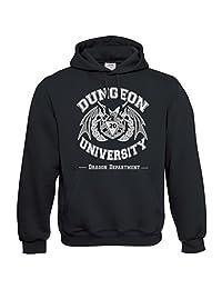 Pixelated Jetstream Dungeon University Dragon Department Hoodie