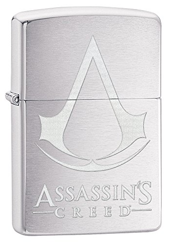 Zippo Assassin's Creed Pocket Lighter, Brushed (Assassin's Creed Names)