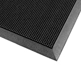 Cactus Mat 35-3239 Rubber Finger Top, Raised Finger Mat, 32'' x 39'', Black