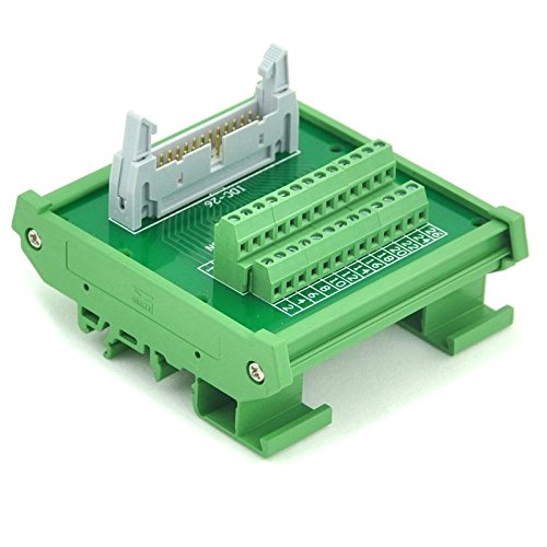 Electronics-Salon IDC-26 DIN Rail Mounted Interface Module, Breakout Board, Terminal Block.