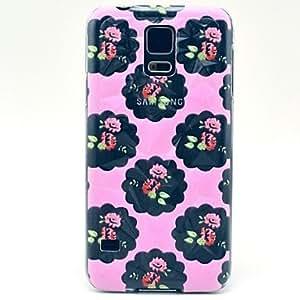 HC-Poco Rose Patrón cubierta del estuche rígido para Samsung Galaxy i9600 S5