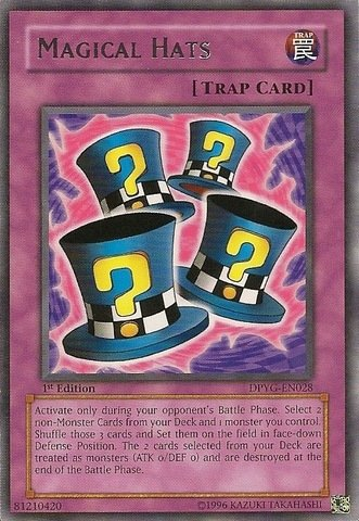 Yu-Gi-Oh! - Magical Hats (DPYG-EN028) - Duelist Pack Yugi Moto - Unlimited Edition - Rare