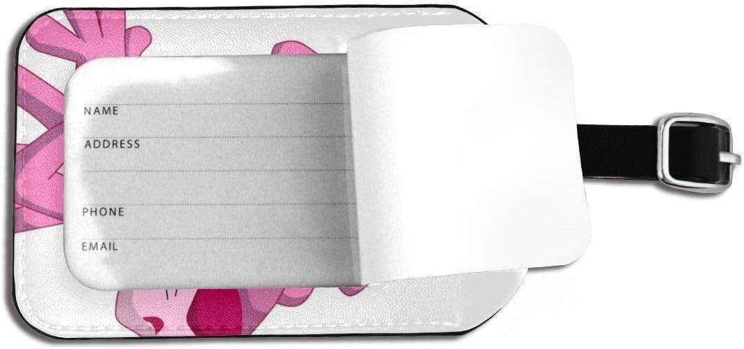 /Étiquettes didentification nominatives pour Le Voyage /Étiquettes de Bagages Panth/ère Rose /Étiquette de Bagages en Cuir /à Sangle r/églable pour Sacs /à Bagages//valises