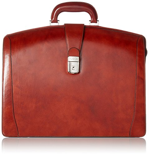 Bosca Old Leather Collection - Partners Brief Briefcase Cognac Leather (Bosca Partners Brief)