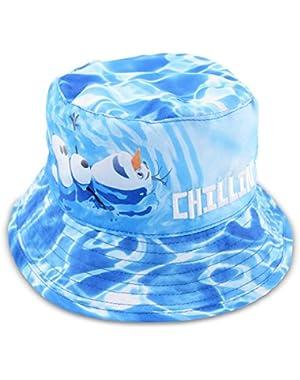 Baby Boys Frozen Olaf Microfiber Bucket Sun Hat, Age 12-24M