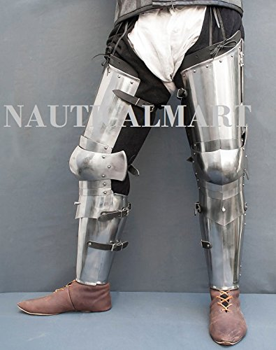 Leg combat armor set , plate legs, cuisses with poleyns and greaves SCA LARP steel protection medieval armor SCA larp legs