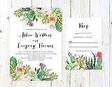 Desert Wedding Invitation, Cactus and Succulent Invitation, Arizona Invitation, Palm Springs Invitation