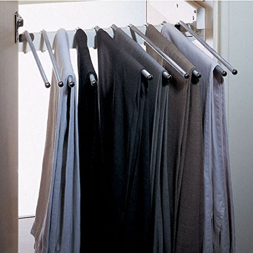 Häfele Trouser Hanger 805.45.204 Chrome Plated Pulls Out For 10 Pairs Of Trousers