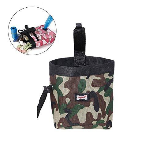 UEETEK Bolsa de entrenamiento para perros, bolsa de entrenamiento de Oxford, bolsa de alimentos para bolsillos bolsa de cintura para los perros que caminan (verde)